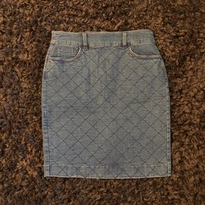 Quilted Denim Pencil Skirt from J. Crew